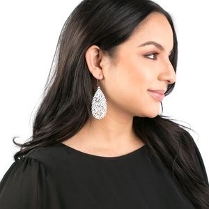 NWT Plunder White Drop Earrings